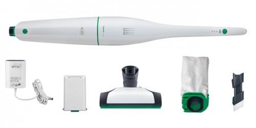 O sistema a bateria Kobold VB100 é fornecido com os seguintes componentes: